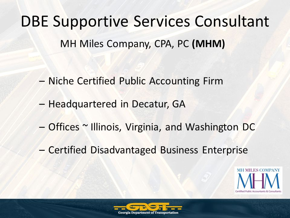 DBE Supportive Services Consultant