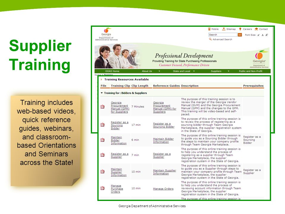 Training includes web-based videos,