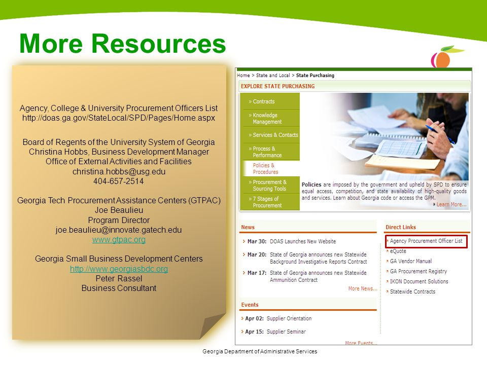 More Resources Agency, College & University Procurement Officers List