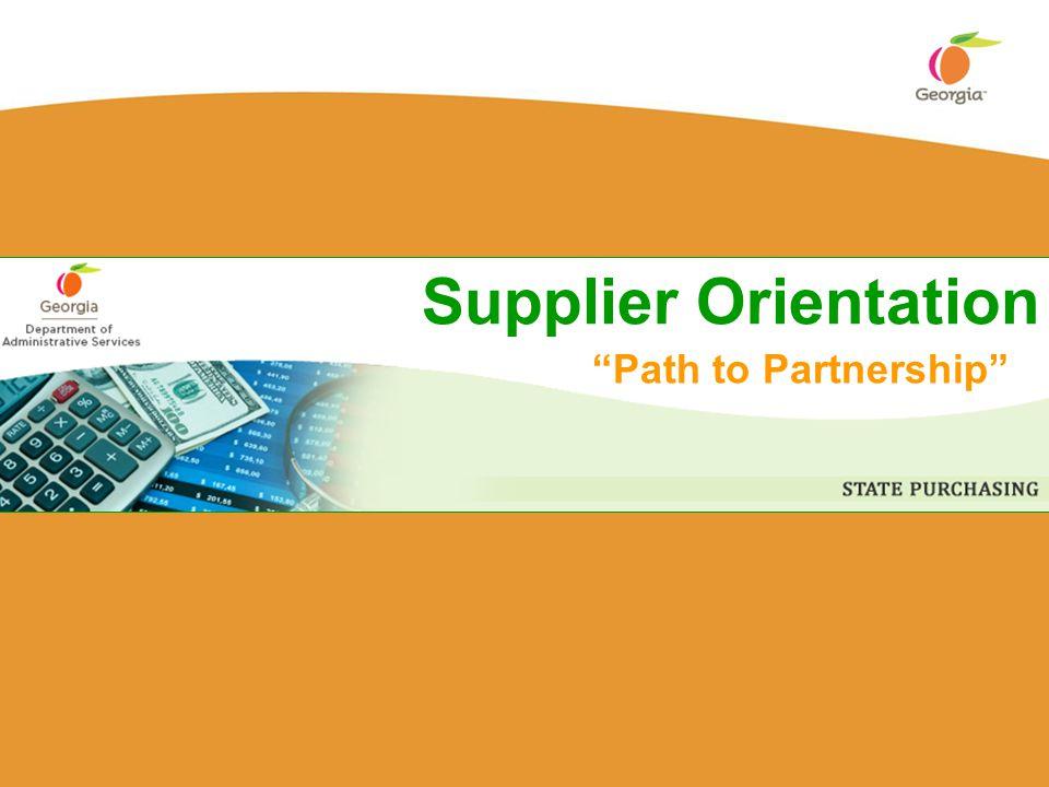 Supplier Orientation Path to Partnership