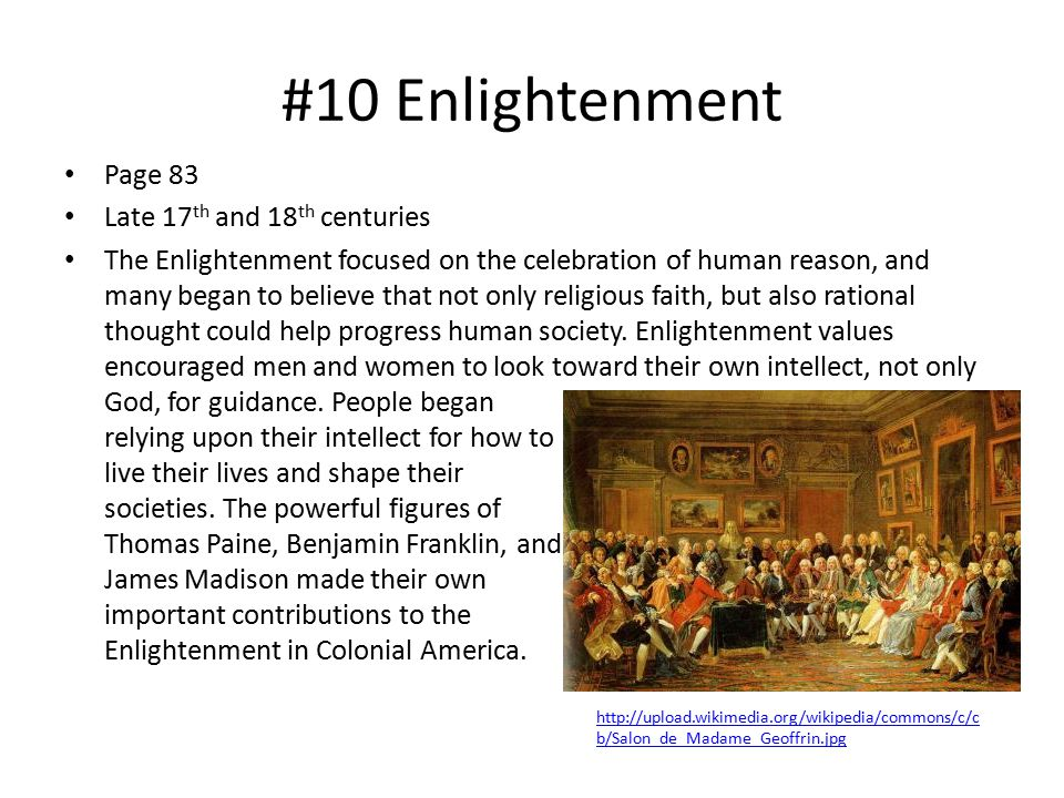 #10 Enlightenment Page 83 Late 17th and 18th centuries