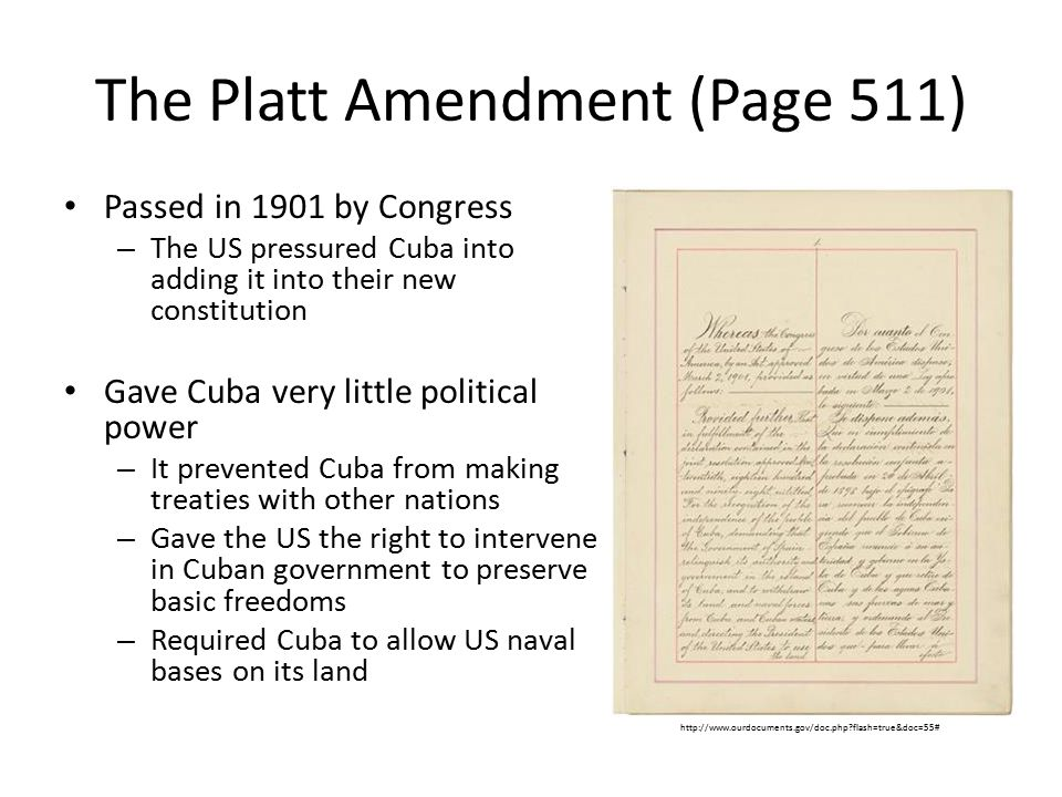 The Platt Amendment (Page 511)
