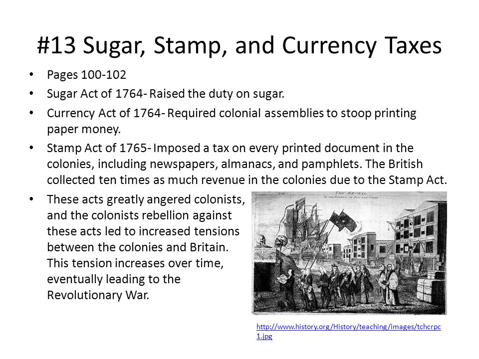#13 Sugar, Stamp, and Currency Taxes