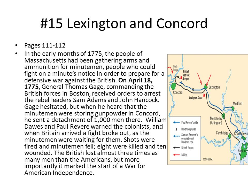 #15 Lexington and Concord