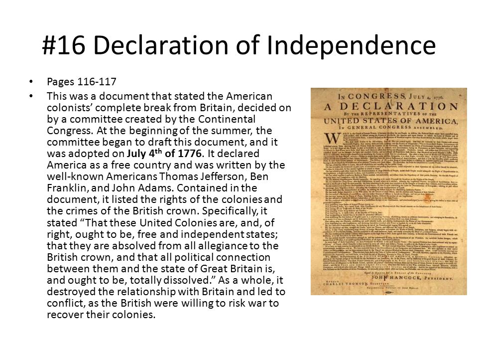 #16 Declaration of Independence