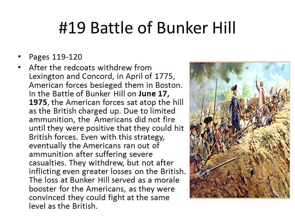 #19 Battle of Bunker Hill Pages 119-120