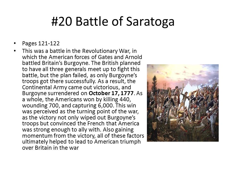 #20 Battle of Saratoga Pages 121-122