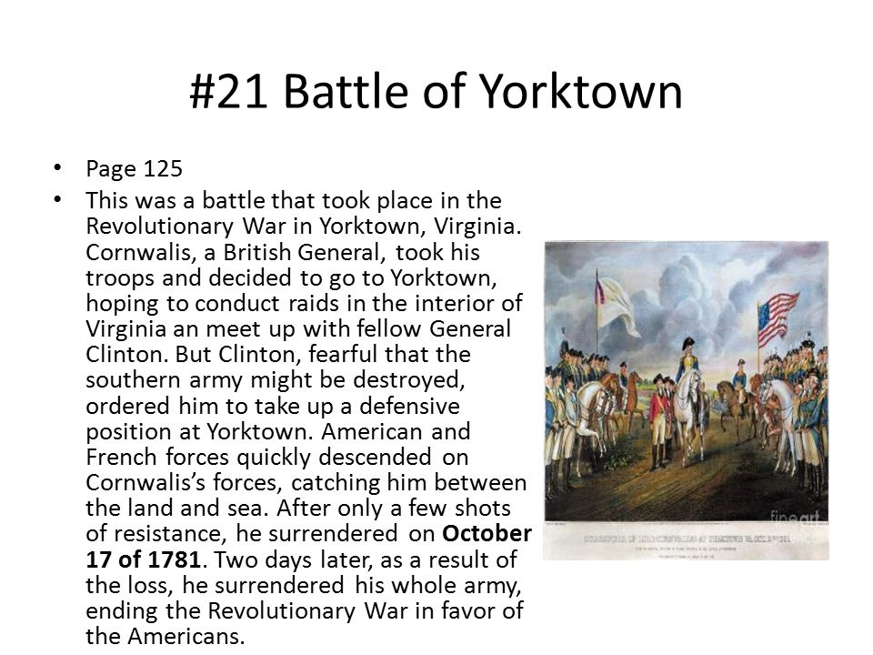 #21 Battle of Yorktown Page 125