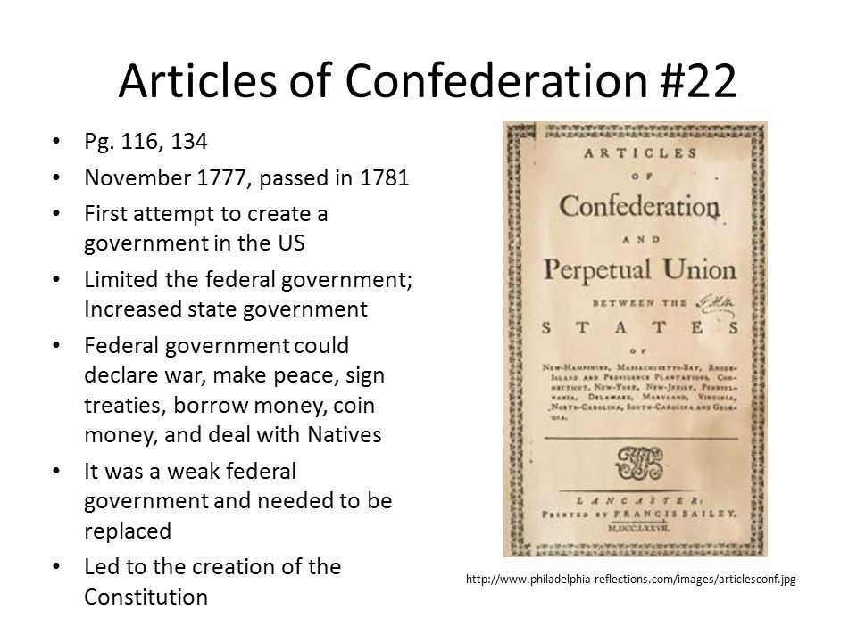 Articles of Confederation #22