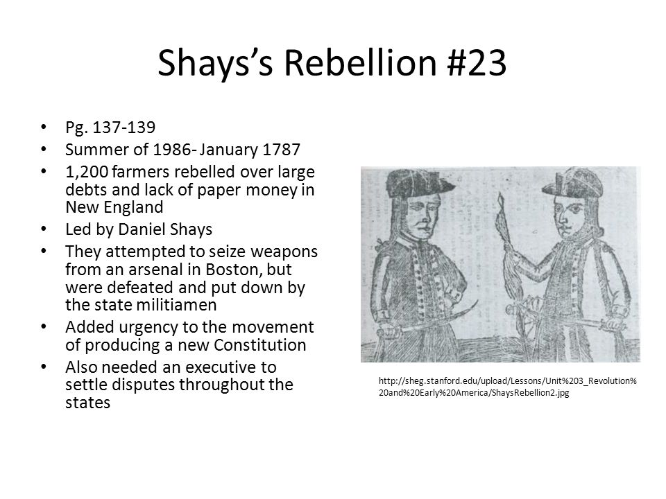 Shays's Rebellion #23 Pg. 137-139 Summer of 1986- January 1787