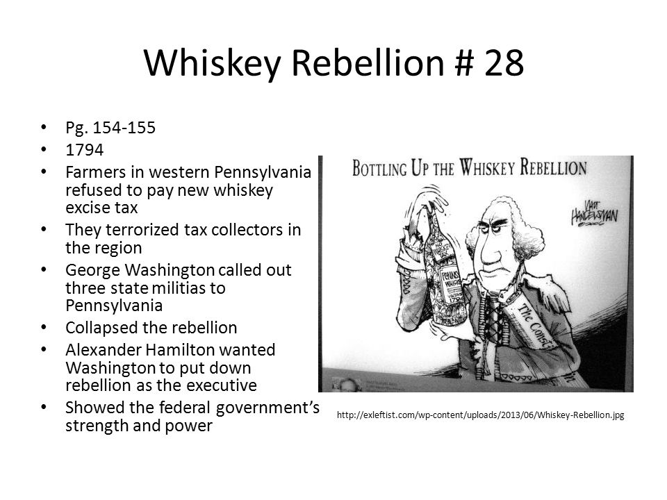 Whiskey Rebellion # 28 Pg. 154-155 1794