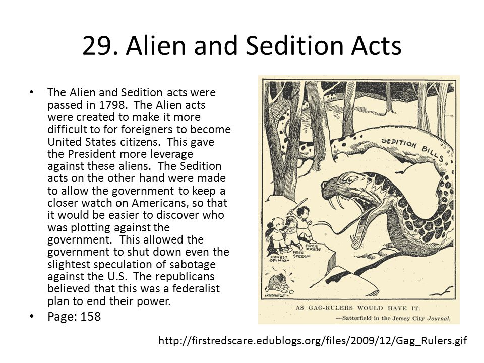 29. Alien and Sedition Acts