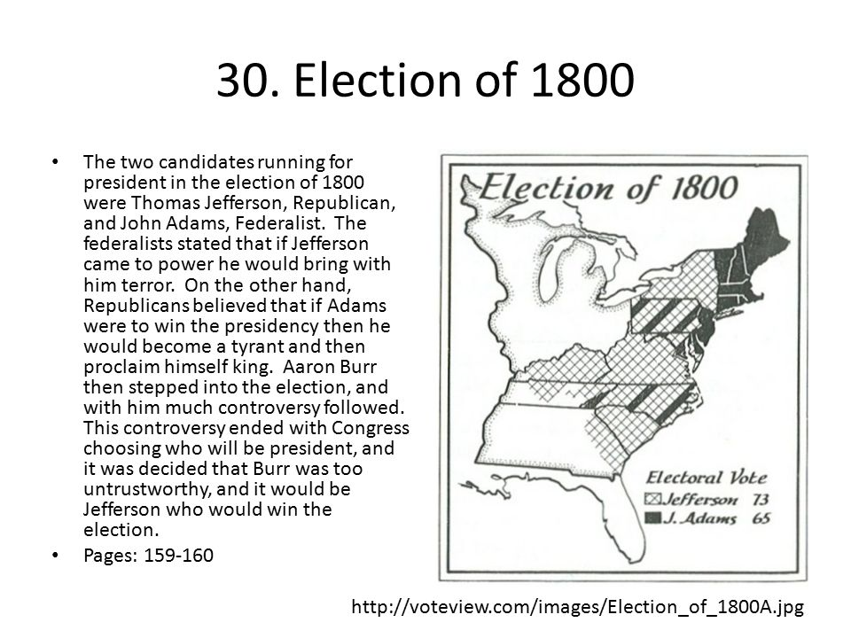 30. Election of 1800