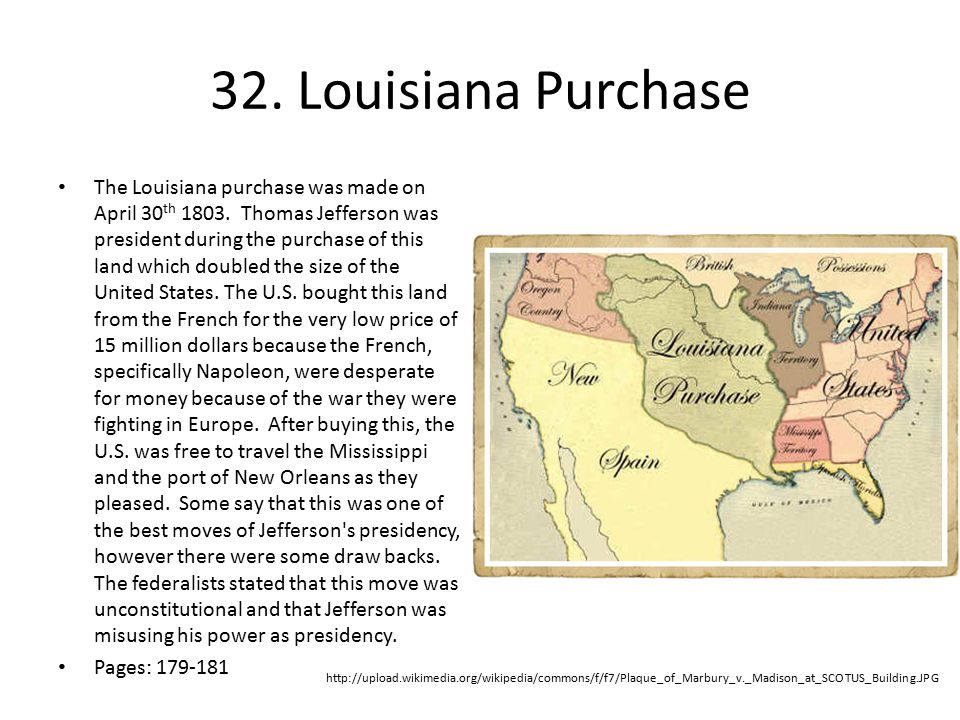 32. Louisiana Purchase