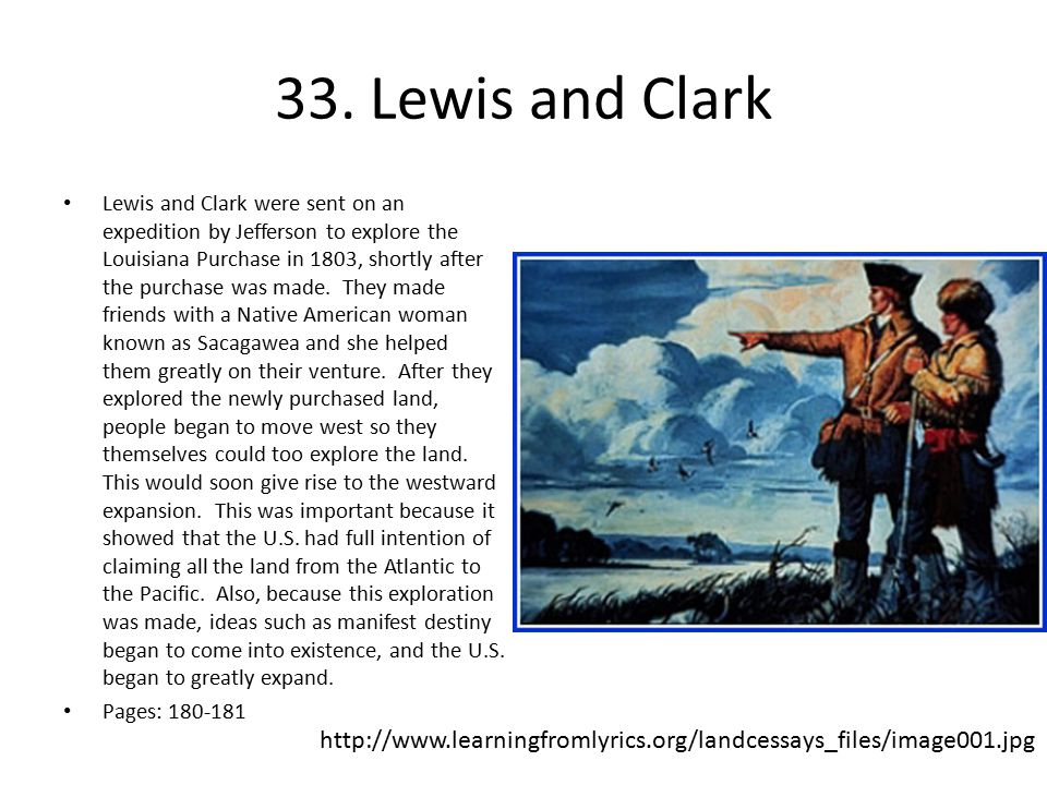 33. Lewis and Clark