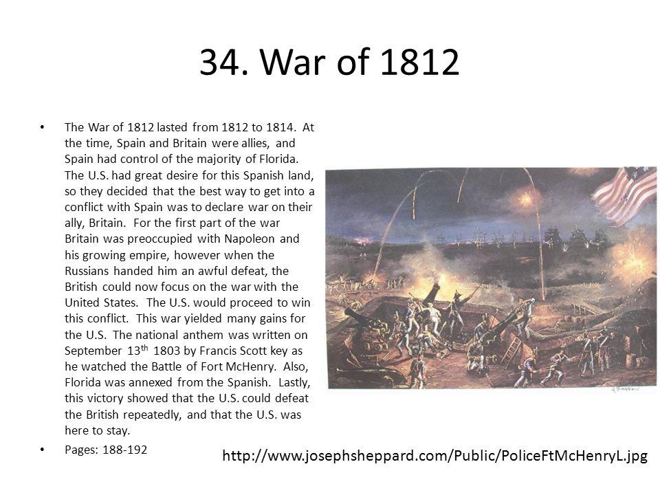 34. War of 1812