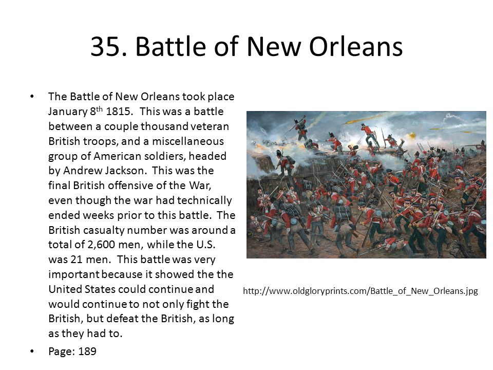 35. Battle of New Orleans