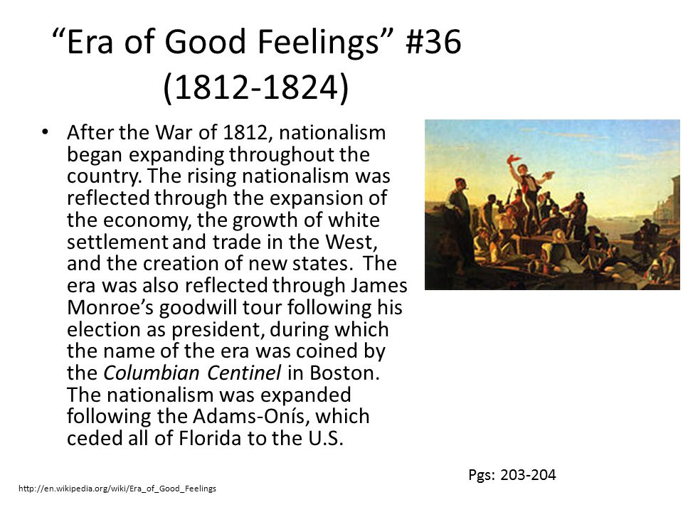 Era of Good Feelings #36 (1812-1824)