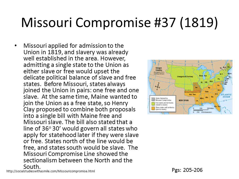 Missouri Compromise #37 (1819)