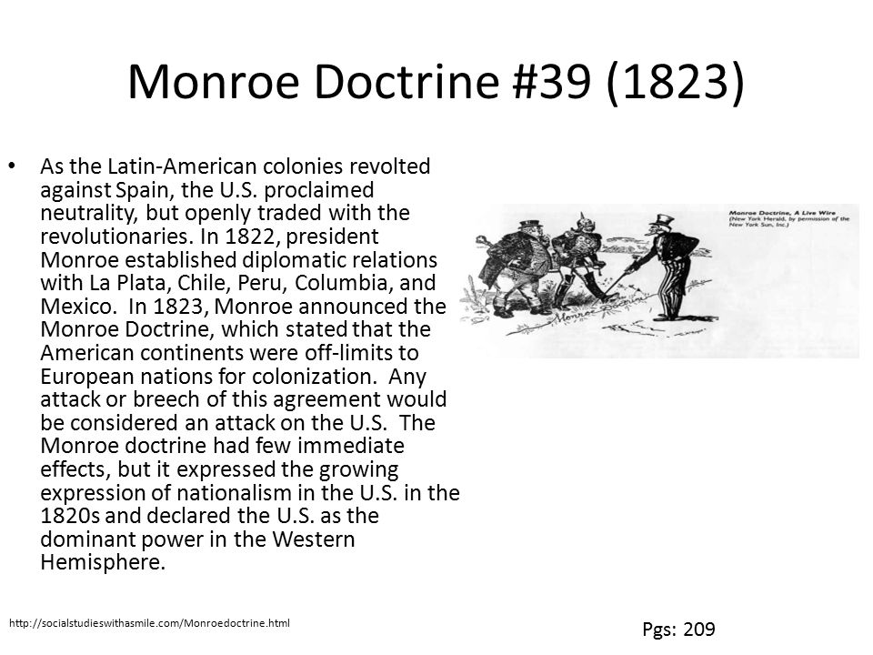 Monroe Doctrine #39 (1823)