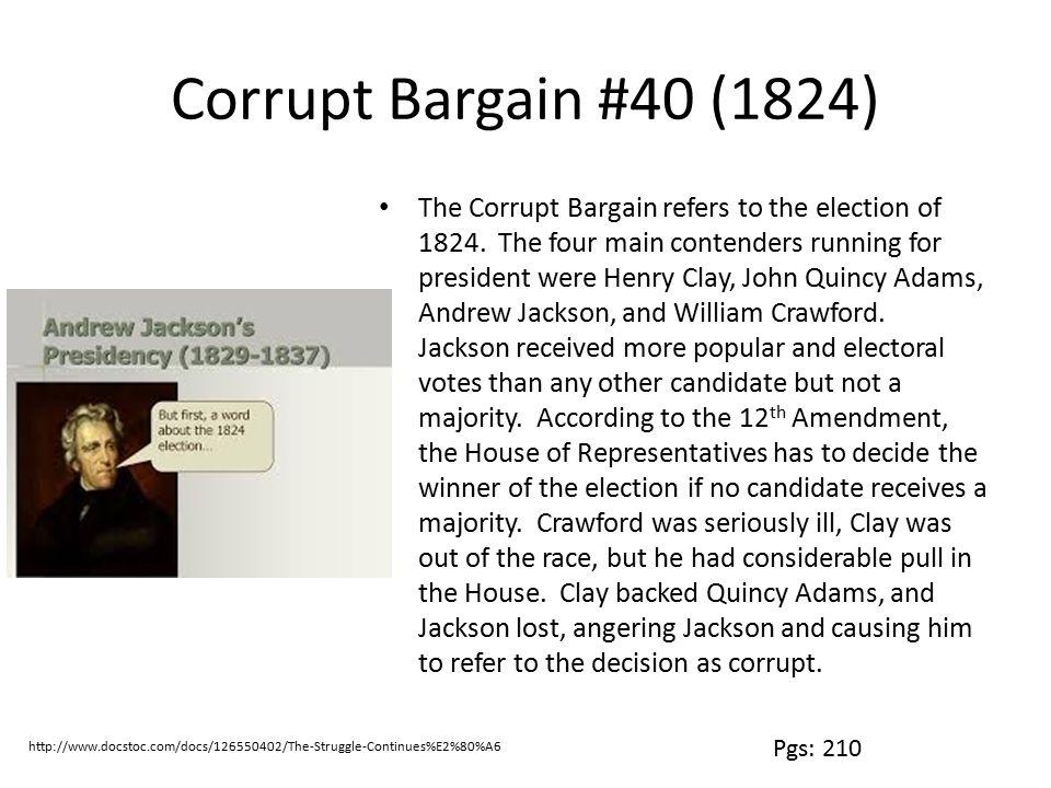 Corrupt Bargain #40 (1824)