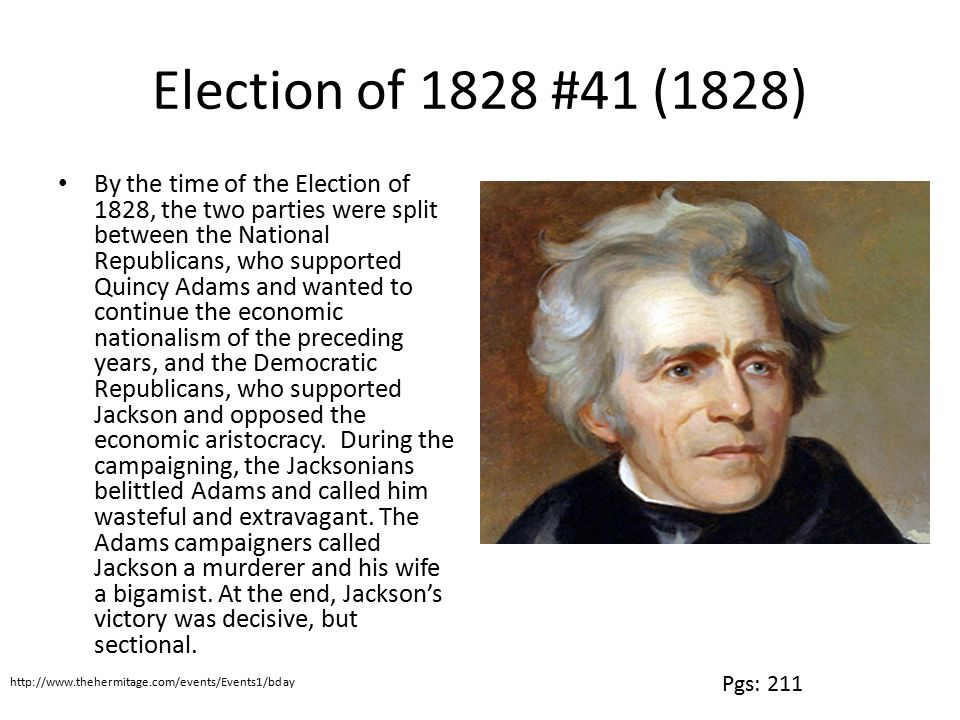 Election of 1828 #41 (1828)