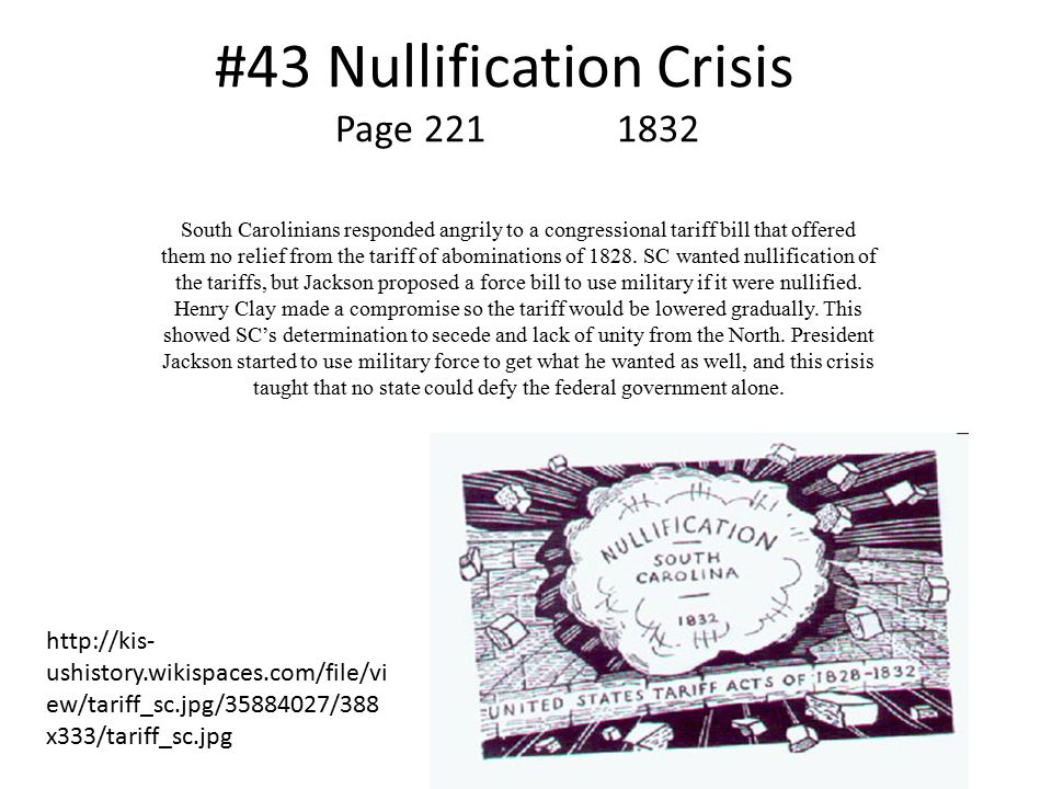 #43 Nullification Crisis