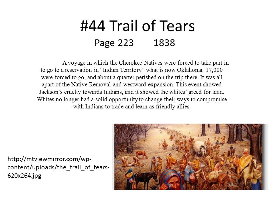#44 Trail of Tears Page 223 1838.