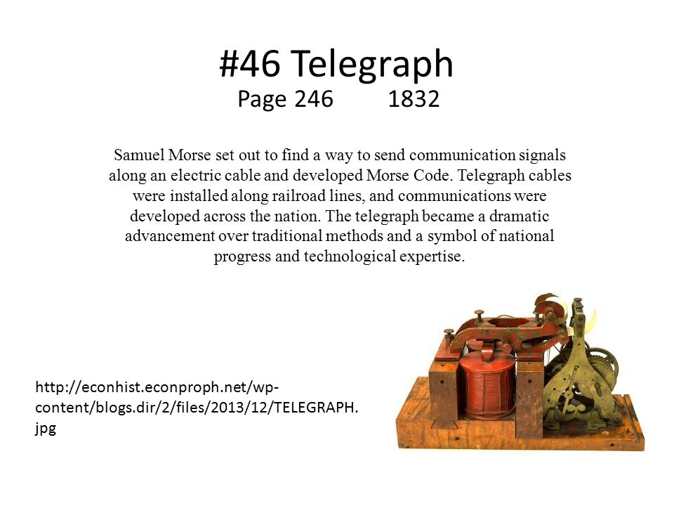 #46 Telegraph Page 246 1832.