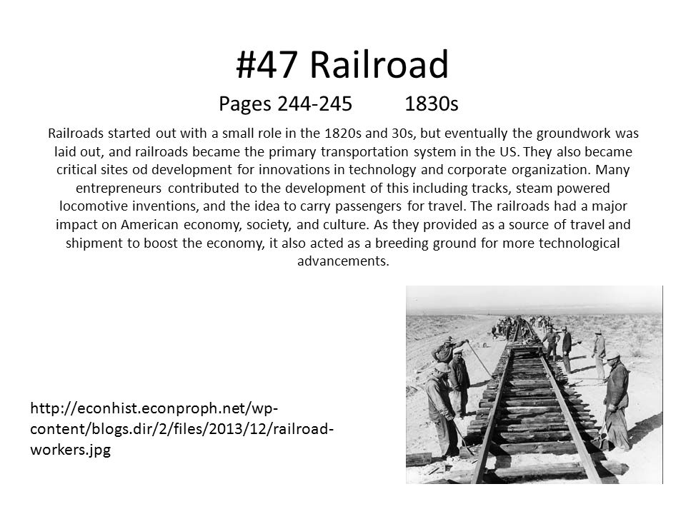 #47 Railroad Pages 244-245 1830s.