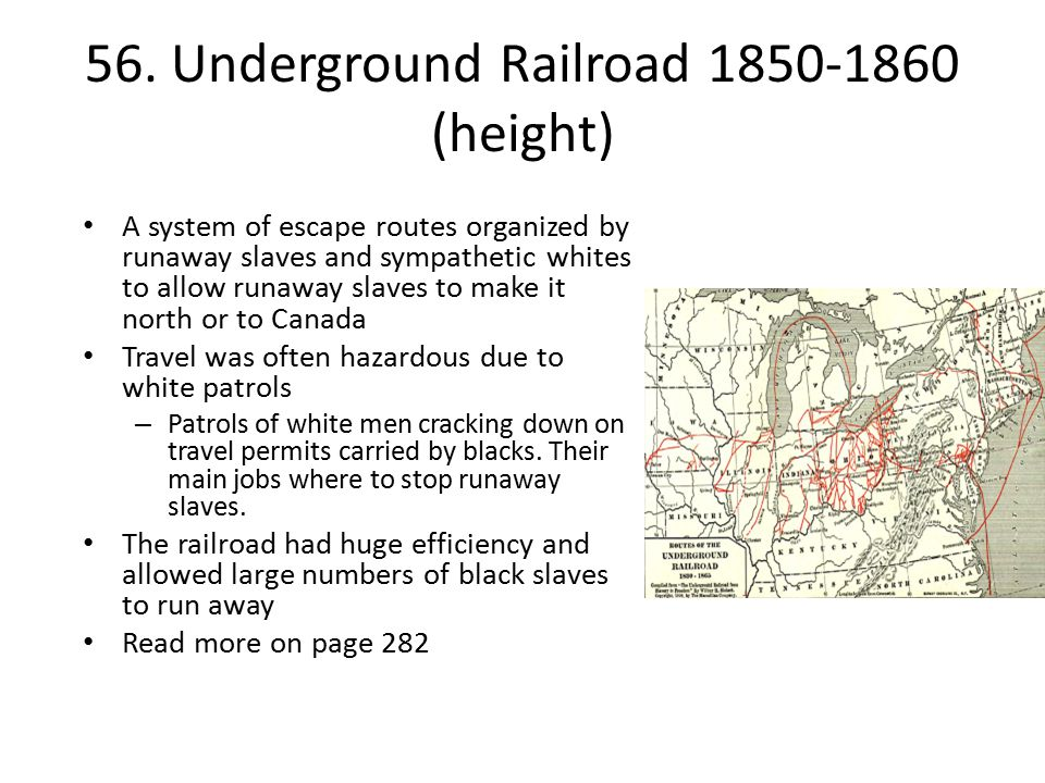 56. Underground Railroad 1850-1860 (height)