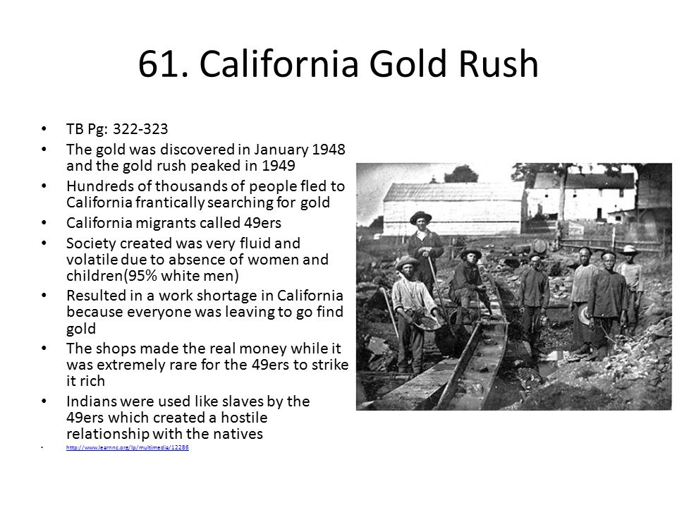 61. California Gold Rush TB Pg: 322-323