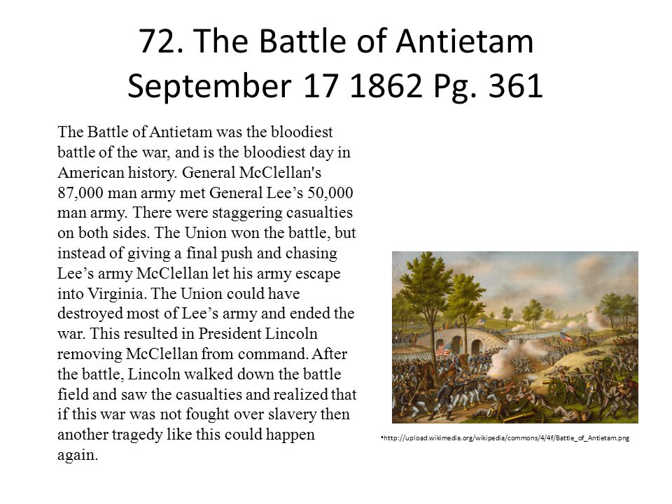 72. The Battle of Antietam September 17 1862 Pg. 361