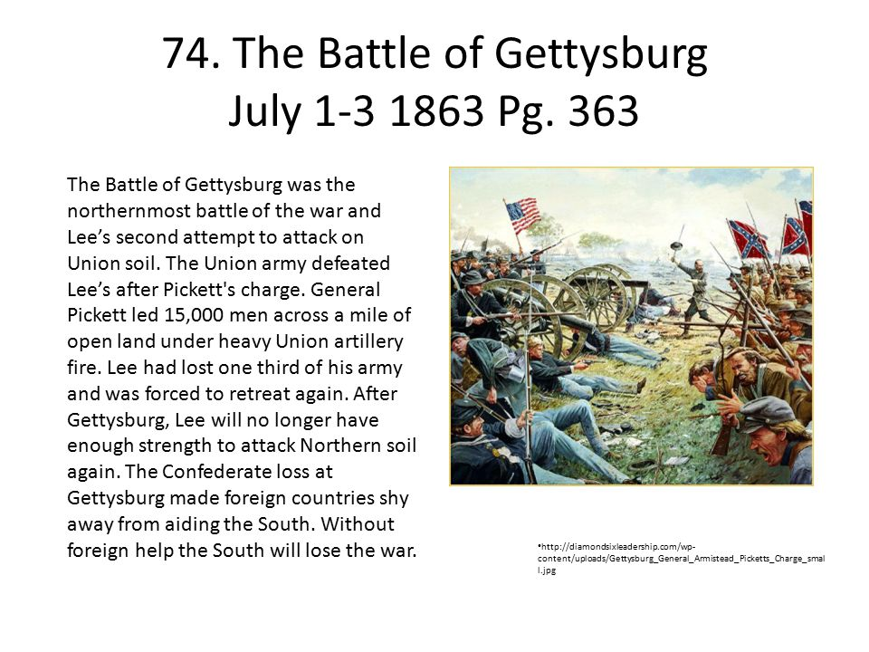 74. The Battle of Gettysburg July 1-3 1863 Pg. 363