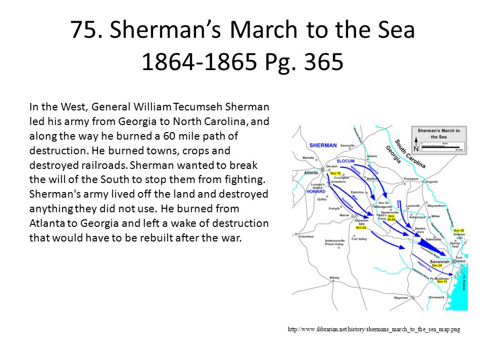 75. Sherman's March to the Sea 1864-1865 Pg. 365