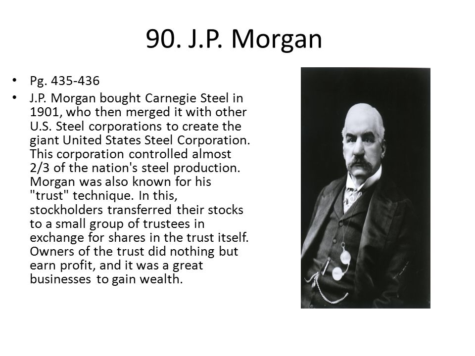 90. J.P. Morgan Pg. 435-436.