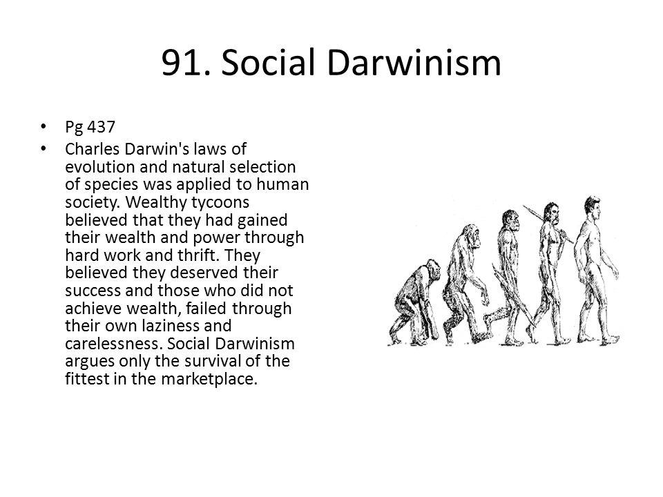 91. Social Darwinism Pg 437.
