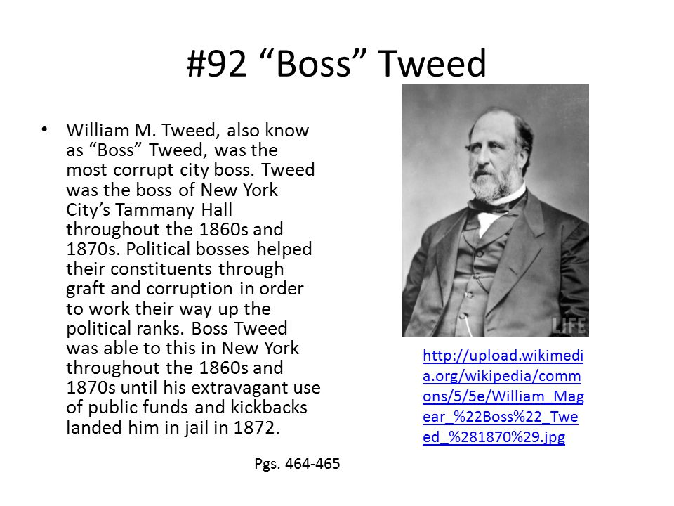 #92 Boss Tweed