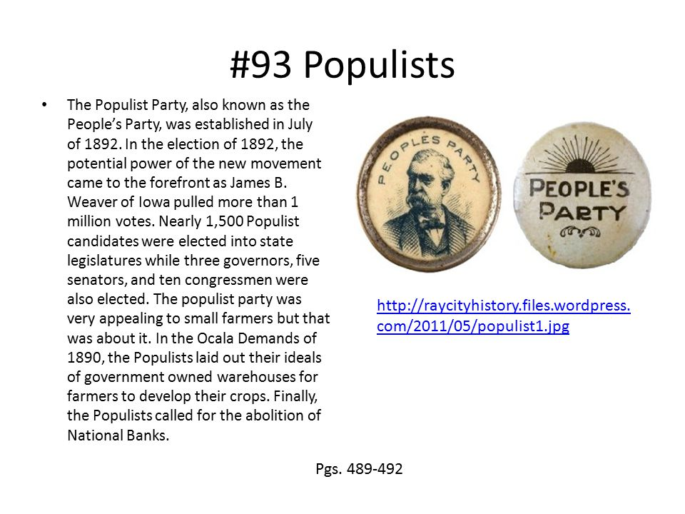 #93 Populists
