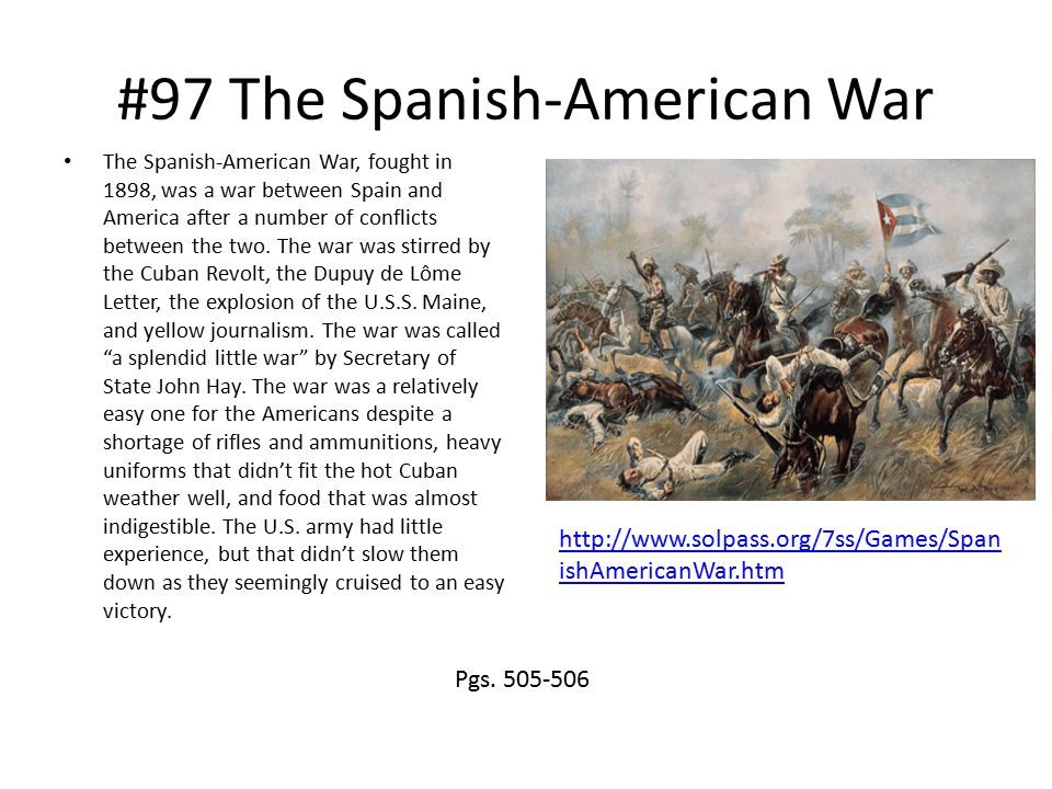 #97 The Spanish-American War