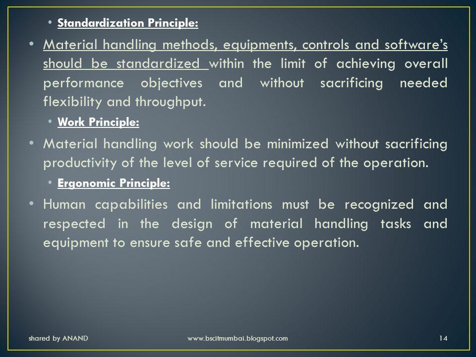 Standardization Principle: