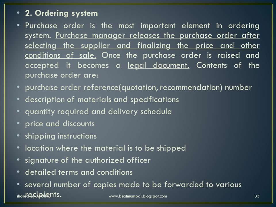 purchase order reference(quotation, recommendation) number