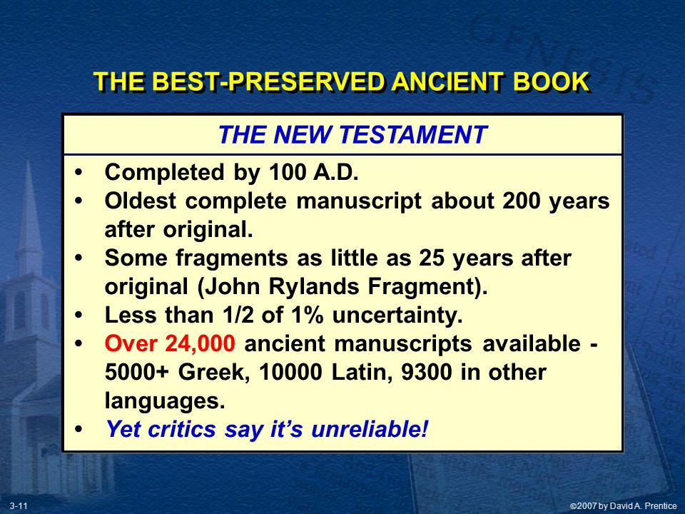 THE BEST-PRESERVED ANCIENT BOOK