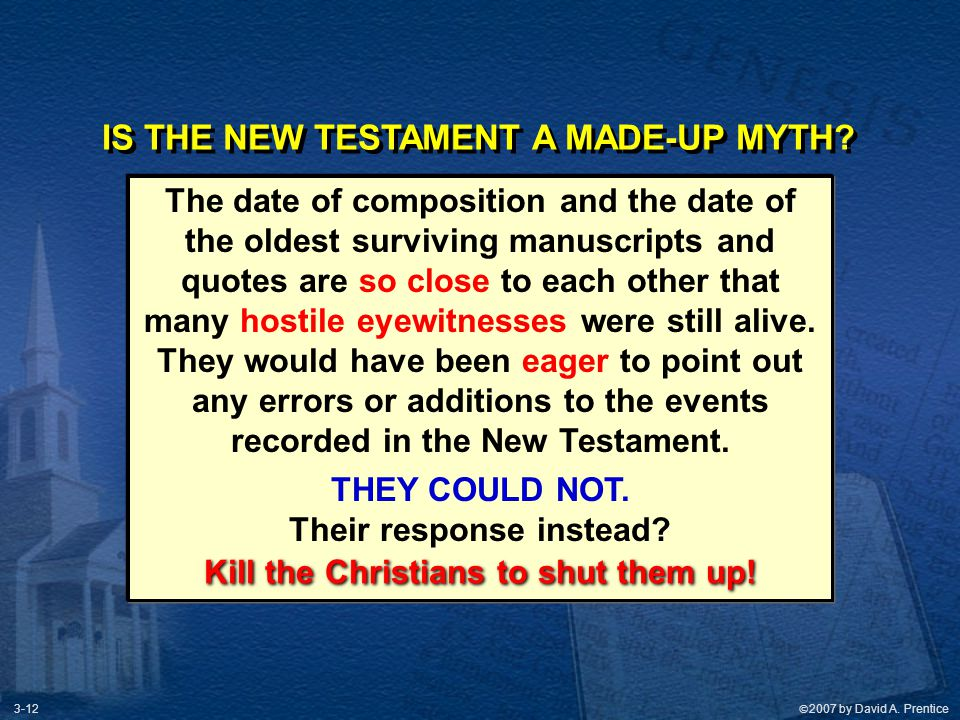 IS THE NEW TESTAMENT A MADE-UP MYTH