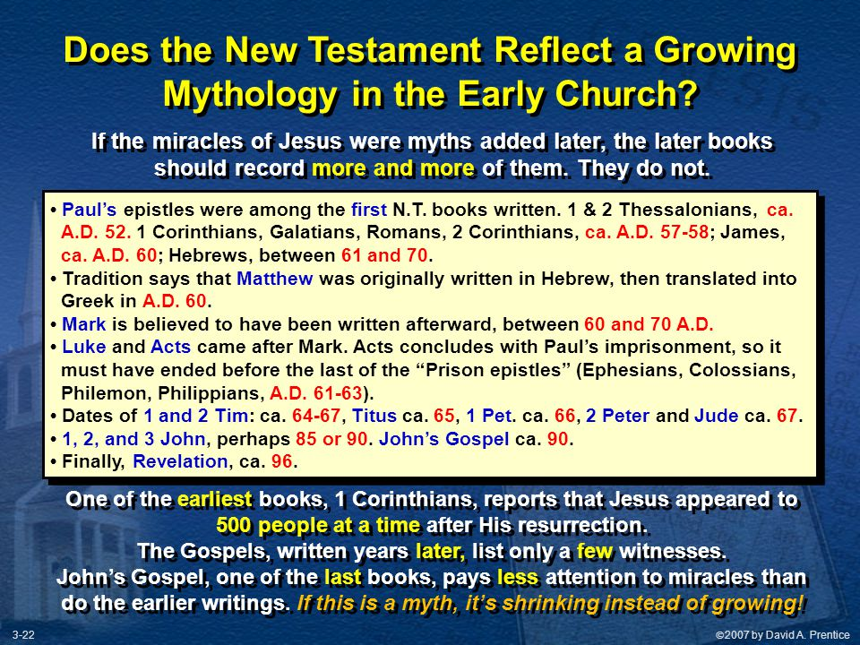 Does the New Testament Reflect a Growing