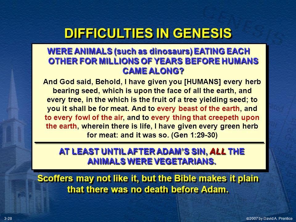 DIFFICULTIES IN GENESIS