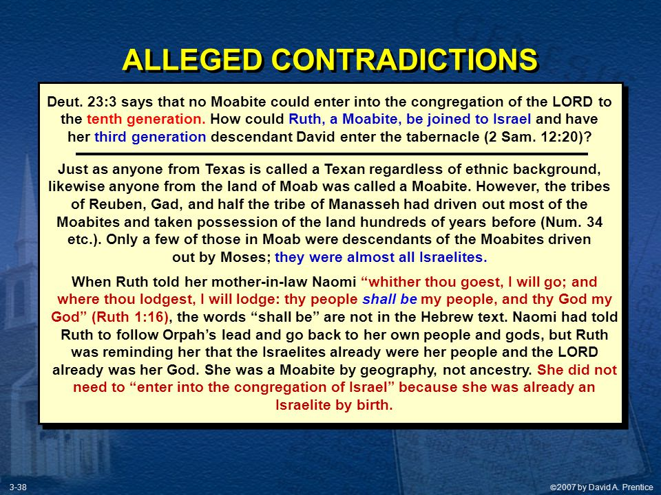 ALLEGED CONTRADICTIONS out by Moses; they were almost all Israelites.