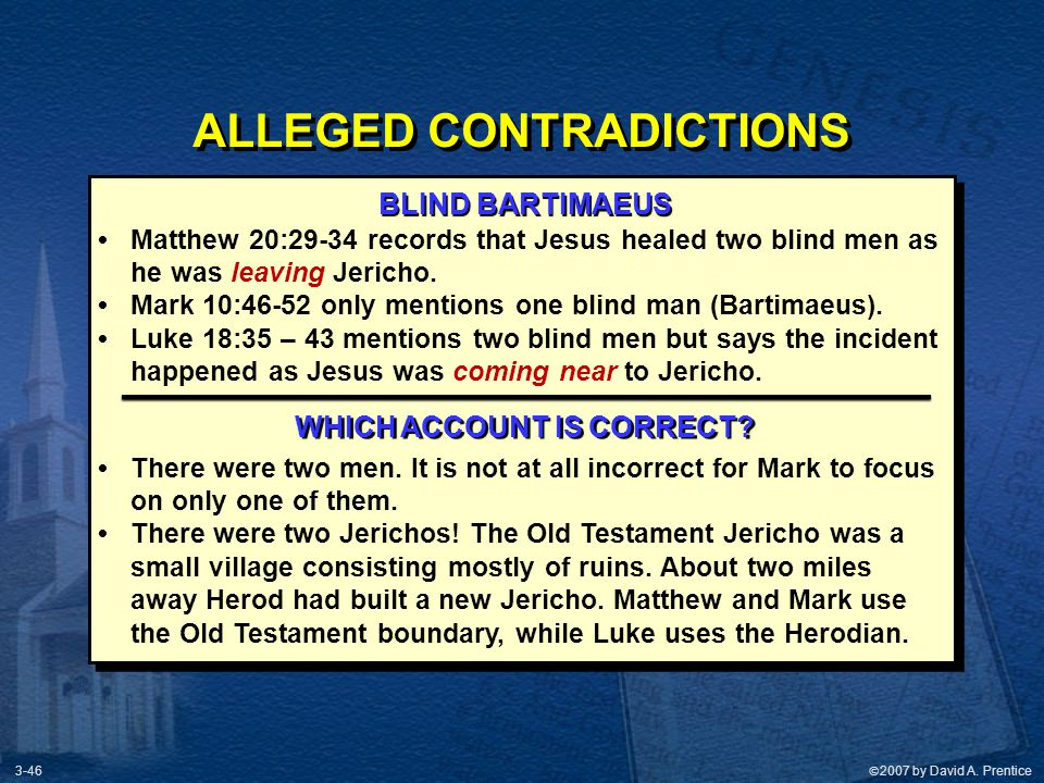 ALLEGED CONTRADICTIONS WHICH ACCOUNT IS CORRECT