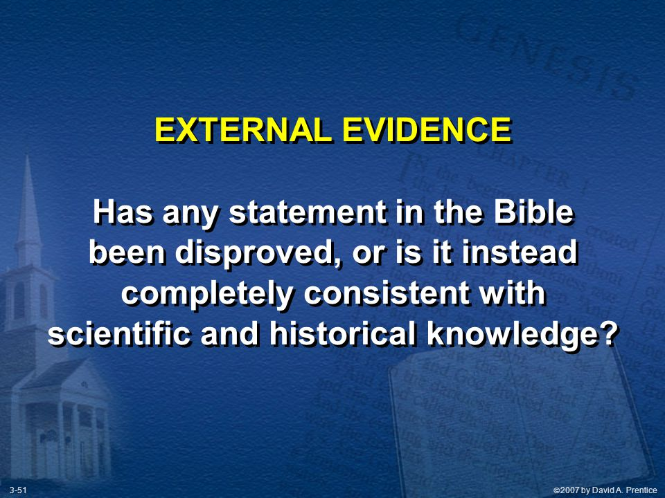Has any statement in the Bible been disproved, or is it instead