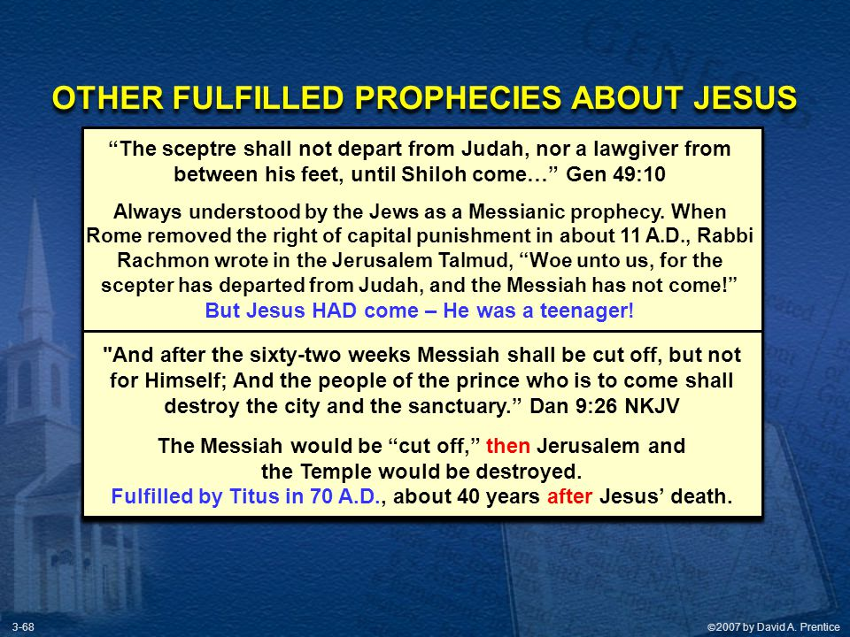 OTHER FULFILLED PROPHECIES ABOUT JESUS